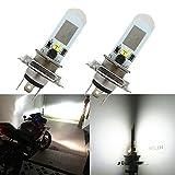 WLJH 2x H4 Motorrad LED Lampen Scheinwerfer 3030...