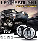 FENNG Scheinwerfer für Jeep Wrangler 5' 30W Runde...