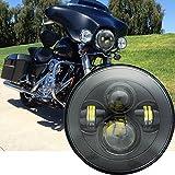 7' LED Scheinwerfer Motorrad Auto H4 Lampe...