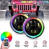 YEEGO 7'Runder RGB Scheinwerfer, 60W RGB...