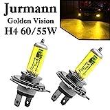 2x Jurmann H4 60/55W 12V Golden Vision Gelb Yellow...