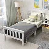 ModernLuxe Weiß Einzelbett Jugendbett 90 x 200 cm...