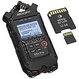 ZOOM H4n PRO Black tragbarer Audio-Recorder +...